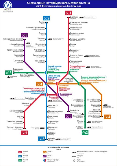 Mapas Y Planos De San Petersburgo Rusia